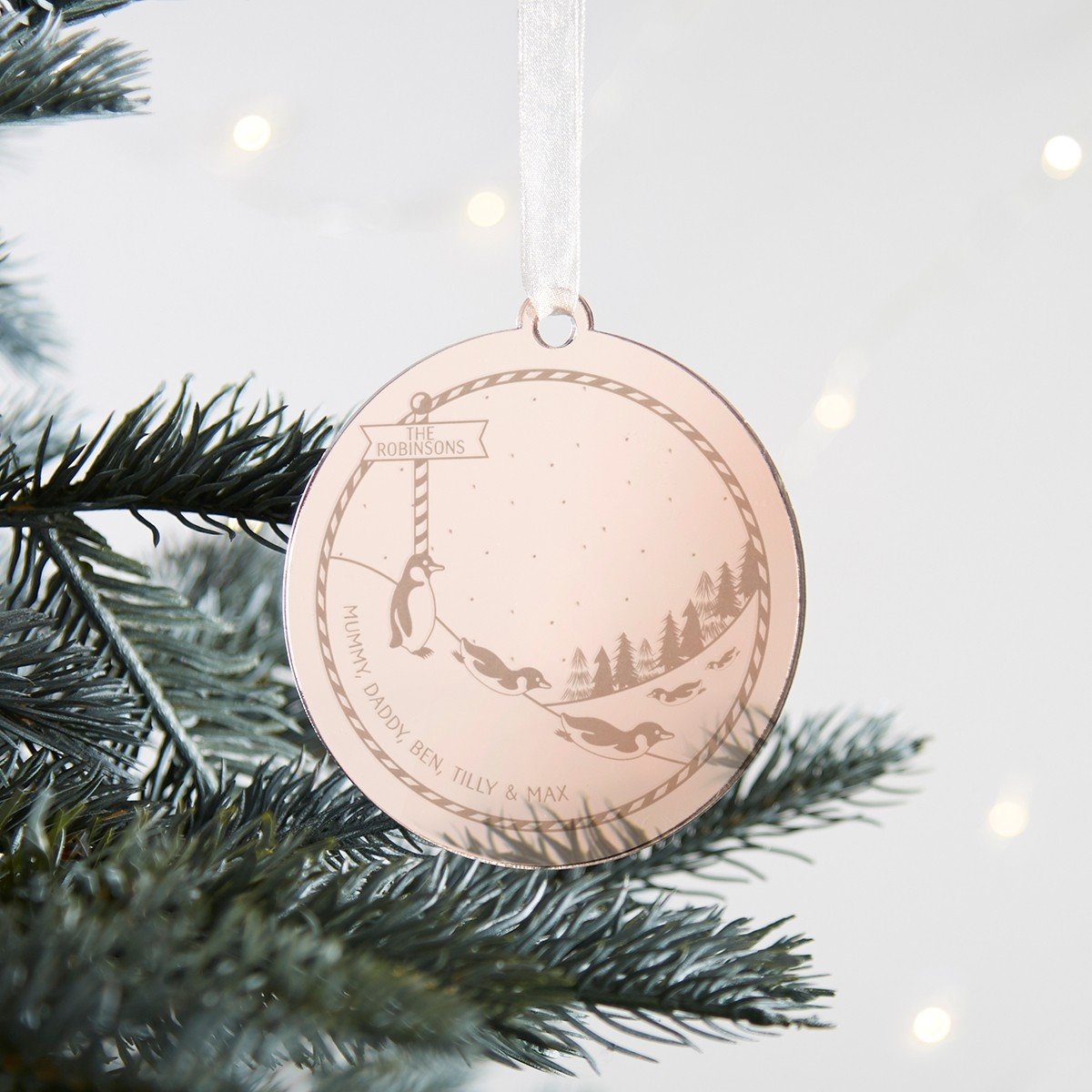 Personalised Christmas Decoration For Family