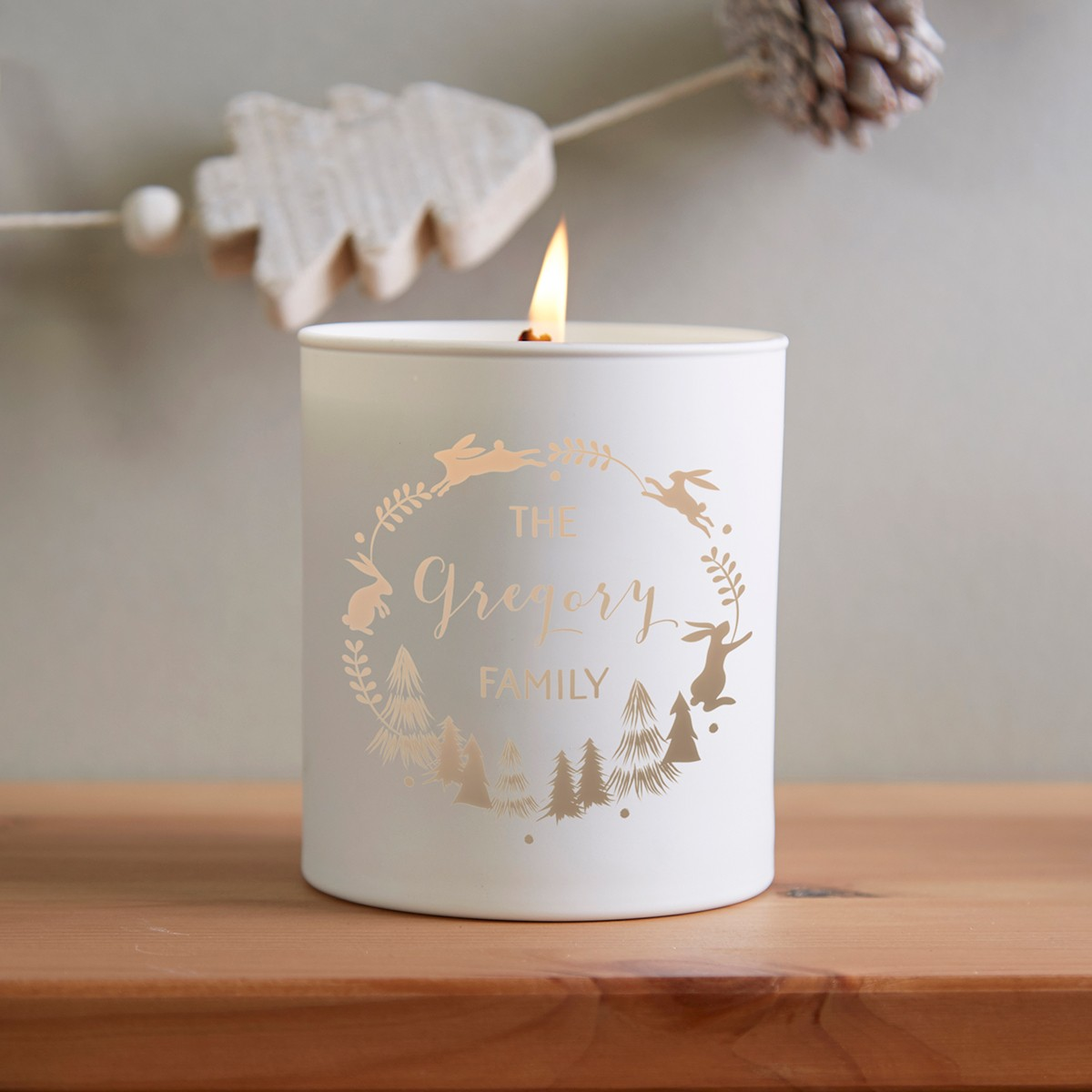 Christmas Home Decoration Personalised Candle