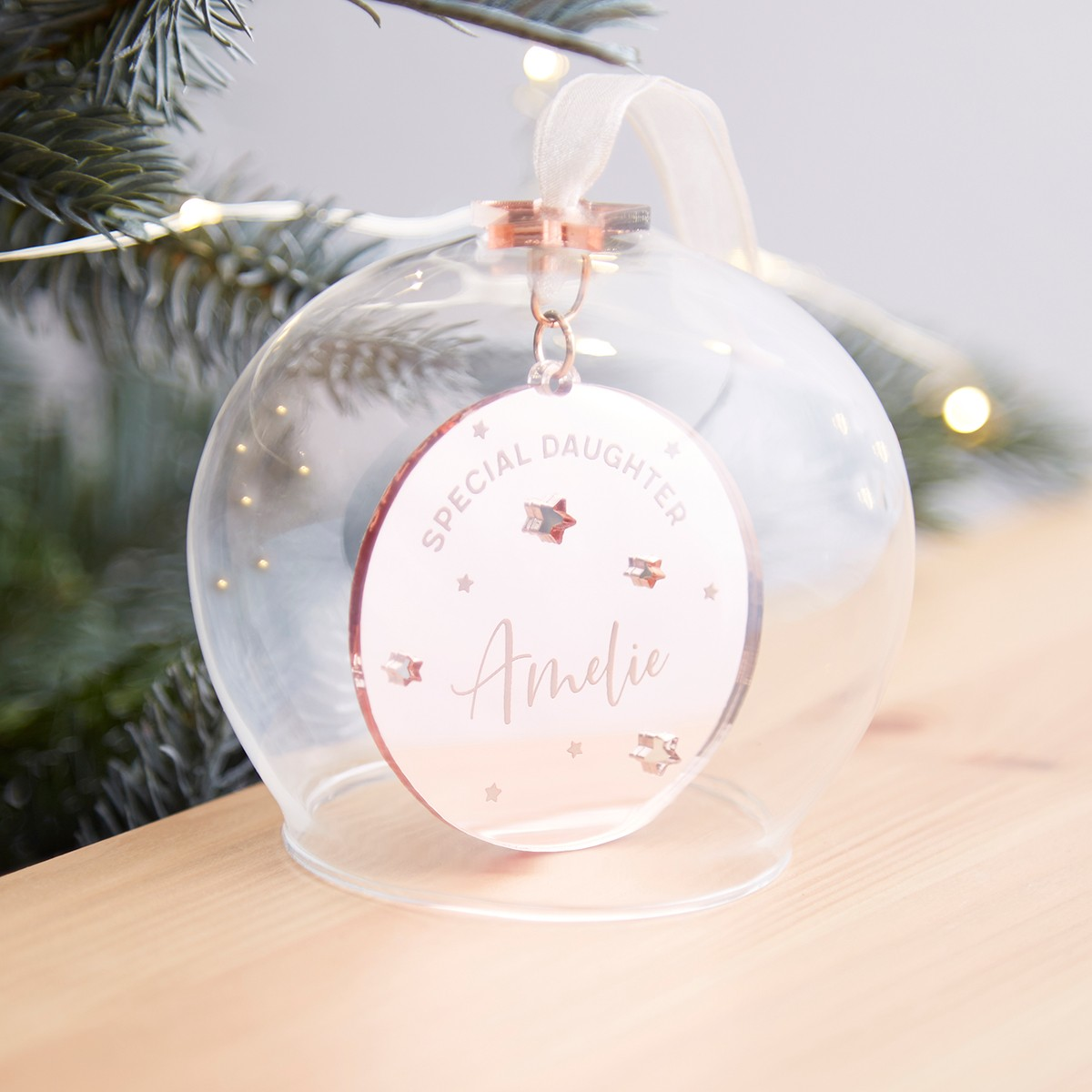 e06a1e3c Daughter Personalised Christmas Bauble | norma&dorothy