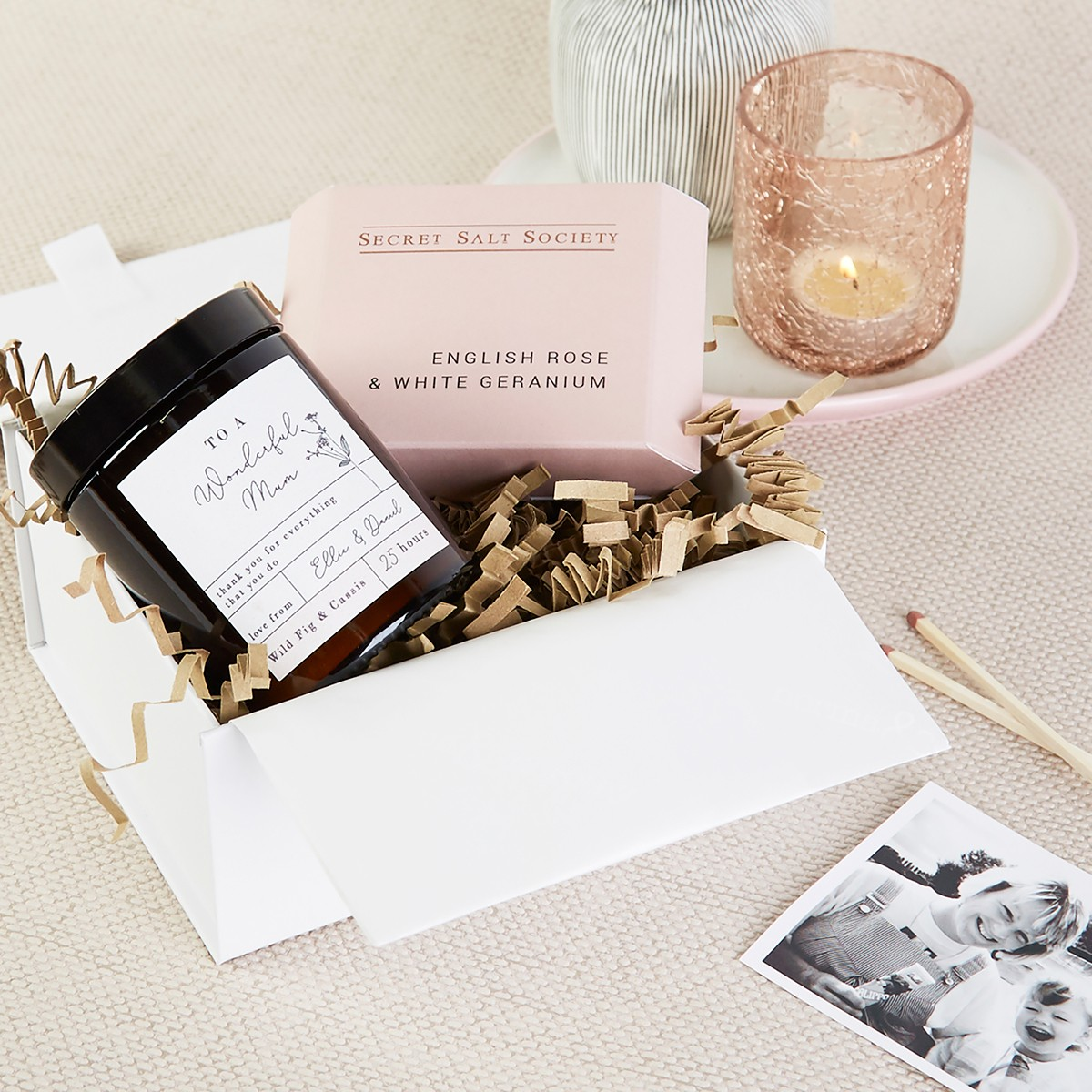 Mother S Day Gift Box Hamper Candle Bath Infusion