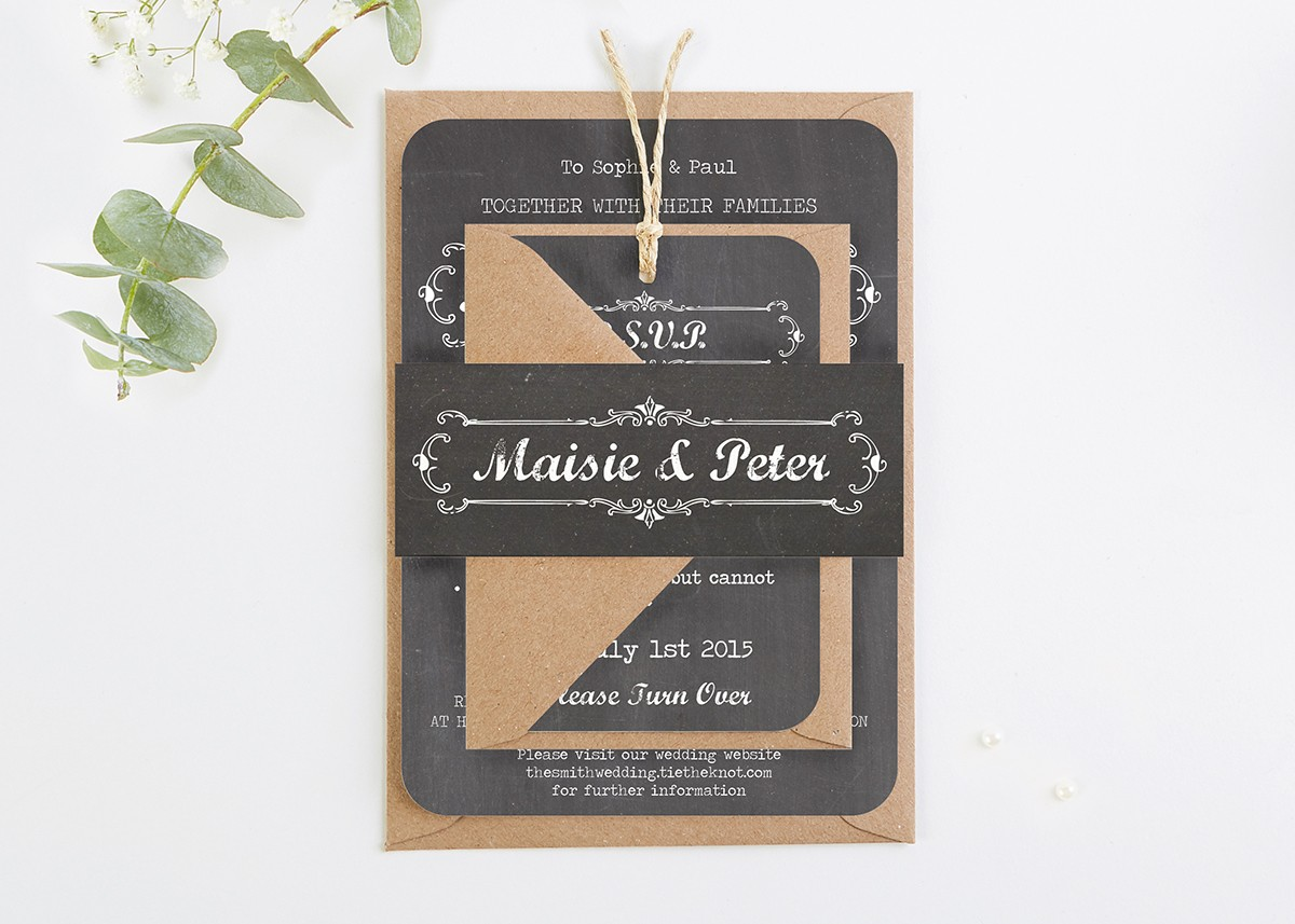 Chalkboard Wedding Invitations Normadorothy