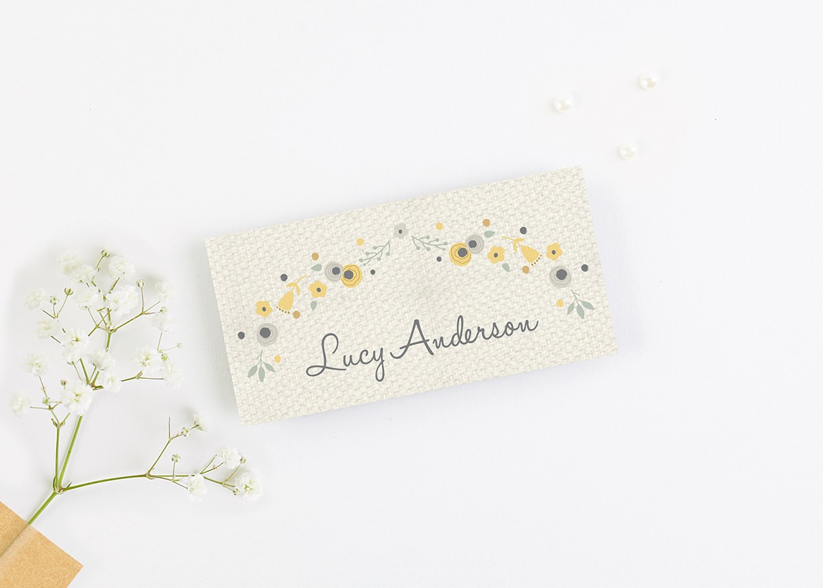 100 ivory blank wedding//dinner place cards
