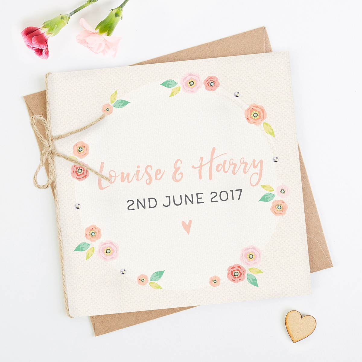 Incredible Bright Floral Folded Square Invite Normadorothy Personalised Birthday Cards Beptaeletsinfo