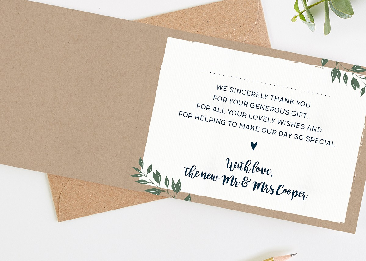 general wedding thank you card wording  17 best images