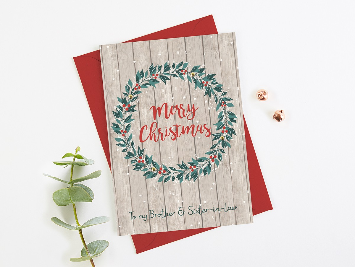 Christmas Gifts For Brother And Sister In Law.Brother And Sister In Law Christmas Card