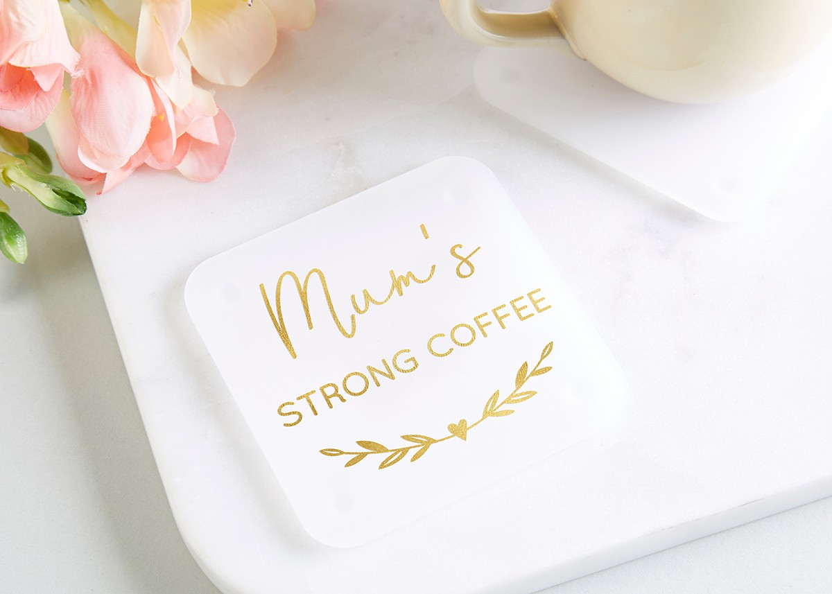 Coffee Gift Personalised Foil Coaster - norma&dorothy