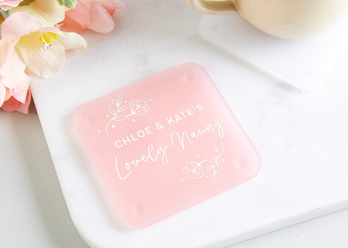 Nanny Gift Personalised Foil Coaster - norma&dorothy