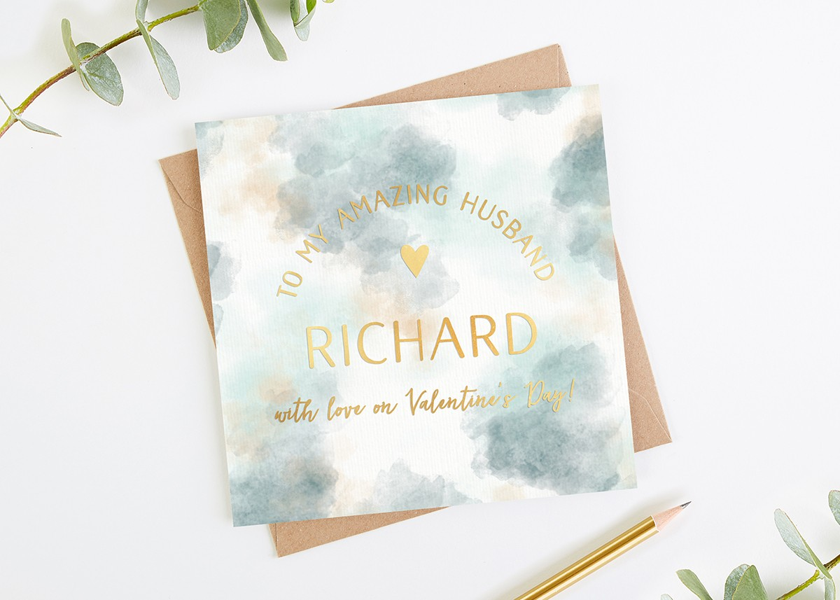 valentine s day card husband boyfriend fiance gold norma dorothy