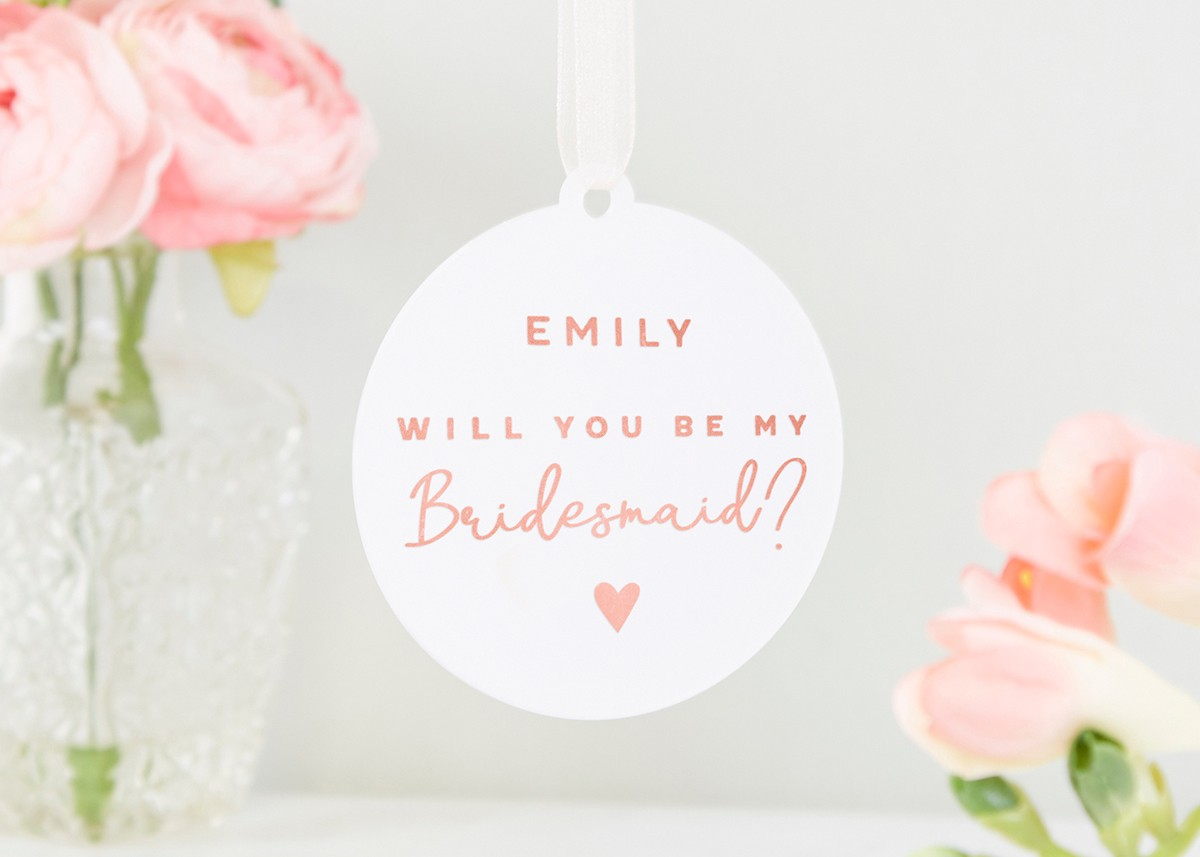 will you be my bridesmaid gift rose gold norma dorothy
