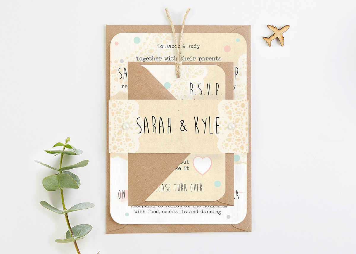 Rustic Map Wedding Invitations - norma&dorothy