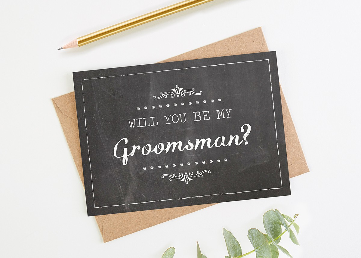 Will you be my groomsman card chalk normadorothy will you be my groomsman card chalk junglespirit Image collections