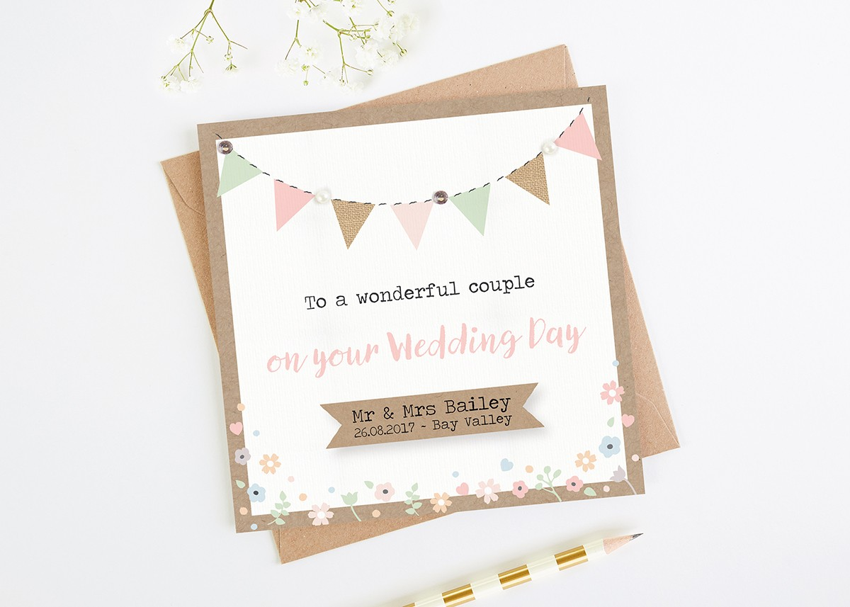 Wedding Cards Personalised Wedding Cards normadorothy