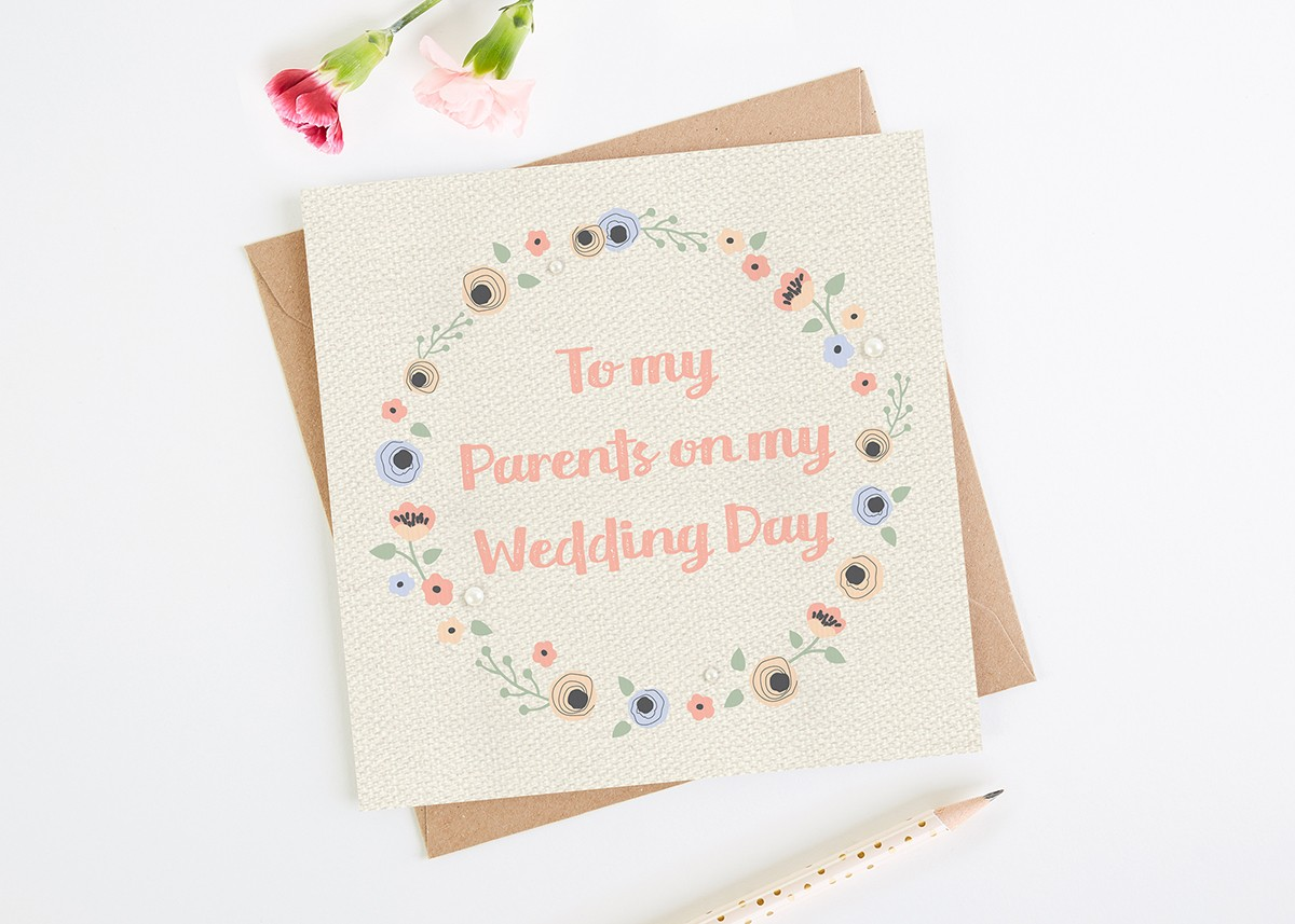 To My Parents On My Wedding Day Card Norma Dorothy