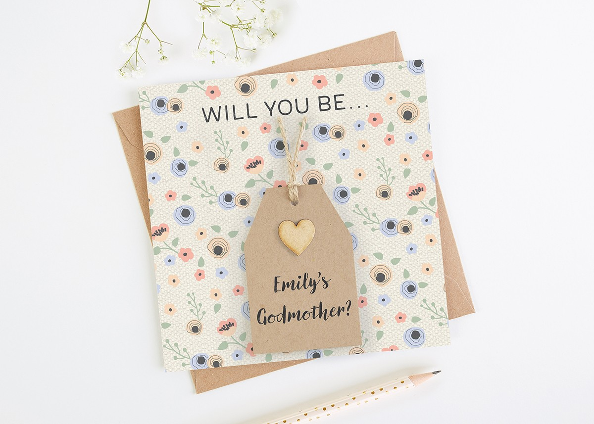 Will you be my godmother personalised card normadorothy m4hsunfo