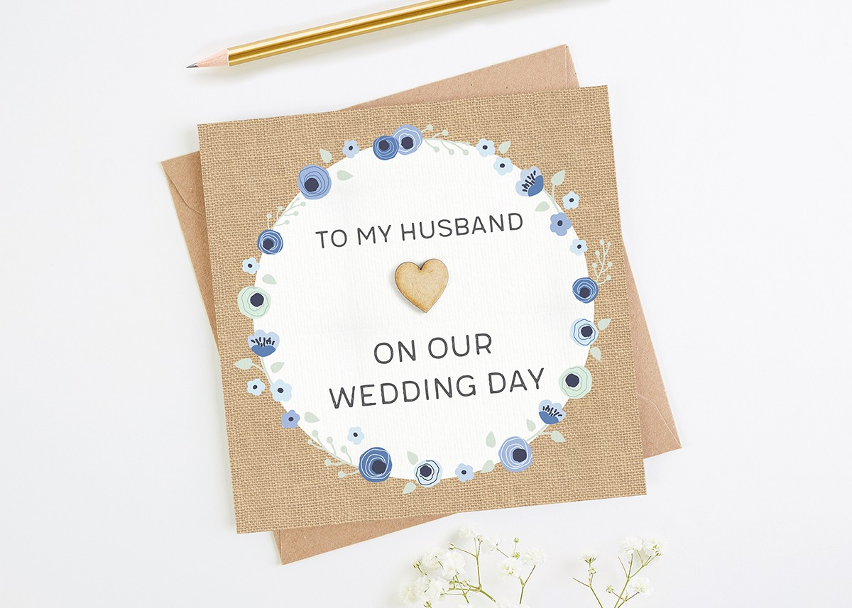 to my husband on our wedding day card norma dorothy