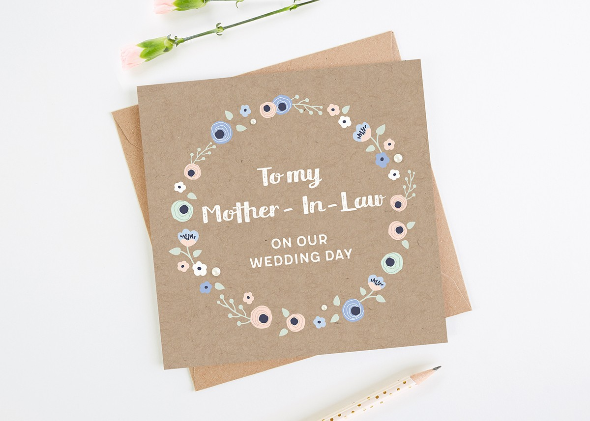 To My Mother-In-Law On Our Wedding Day Card - norma&dorothy