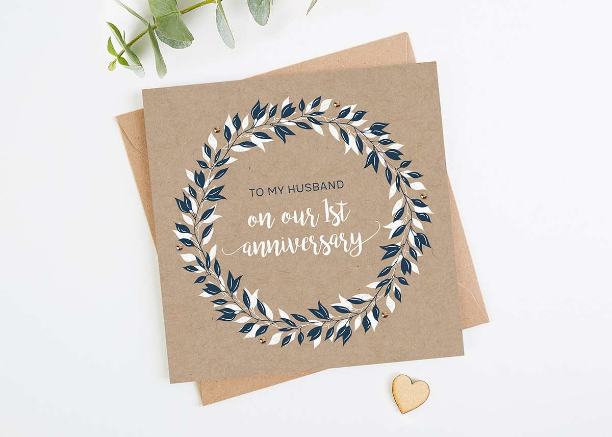 Husband 1st Anniversary Card Normadorothy