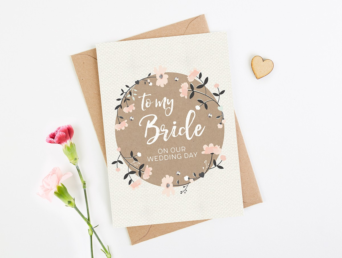 Bridesmaid Gift To Bride On Wedding Day: To My Bride Wedding Day Card