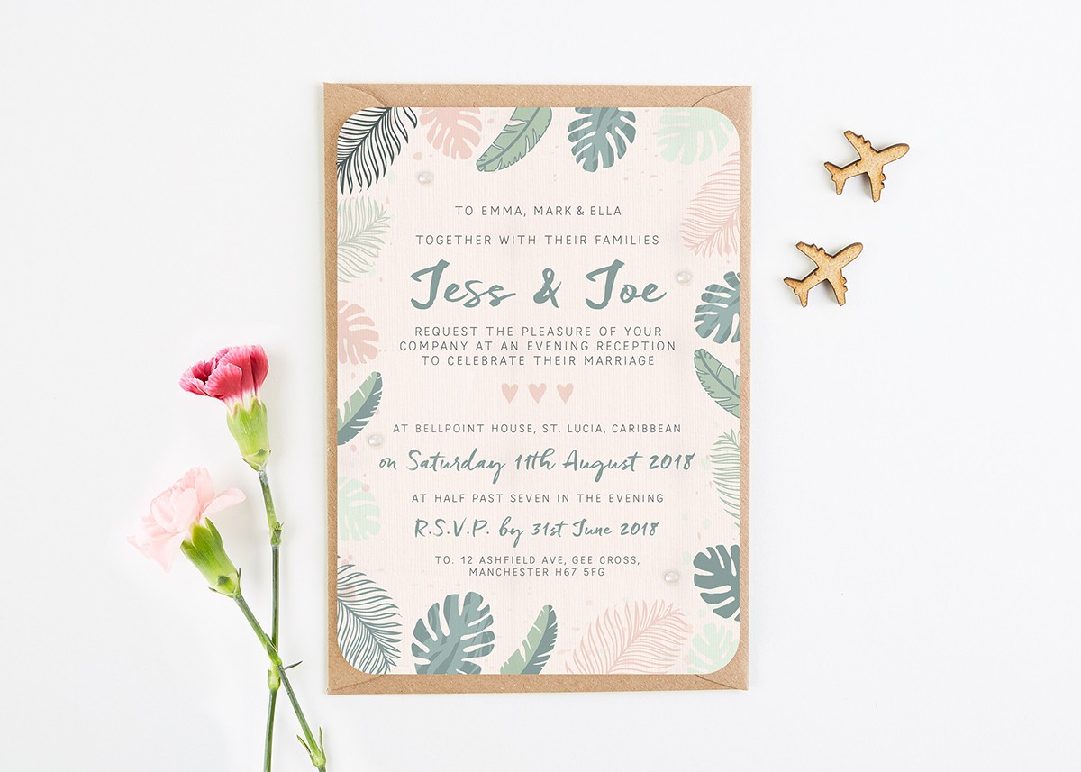 Tropical Pastel Evening Invite - norma&dorothy