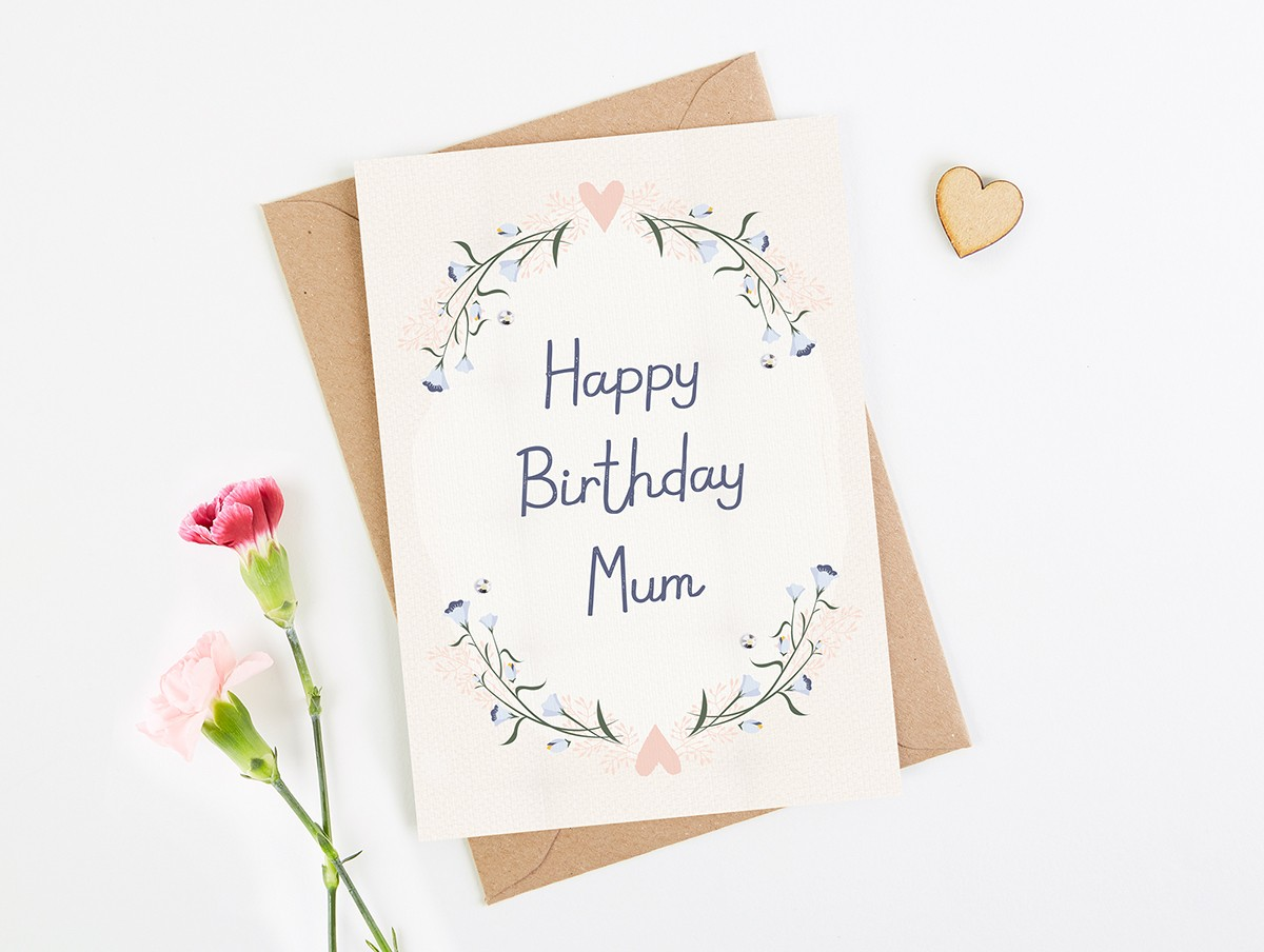 Mum Birthday Card Blush Floral Norma Amp Dorothy