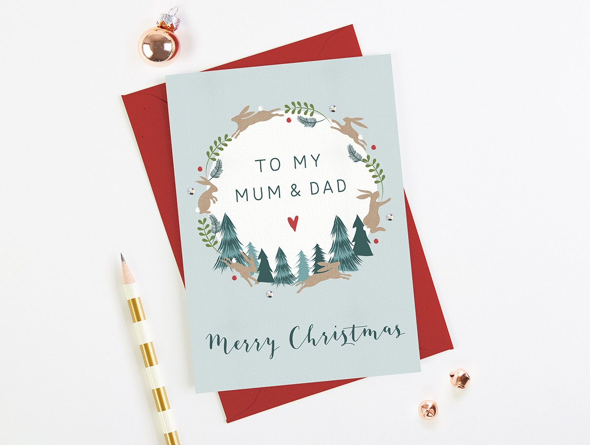 Mum and Dad Christmas Card - norma&dorothy