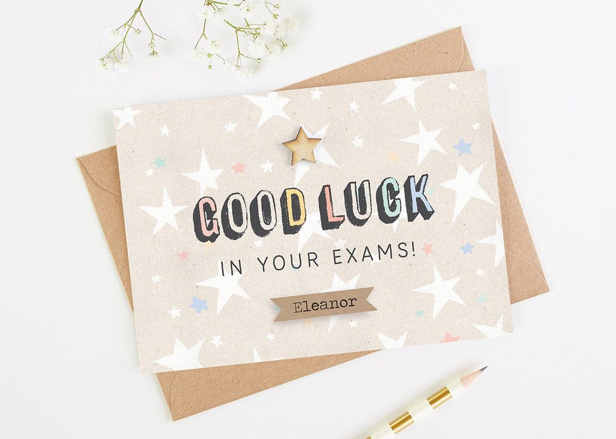 Good luck exam card personalised normadorothy m4hsunfo