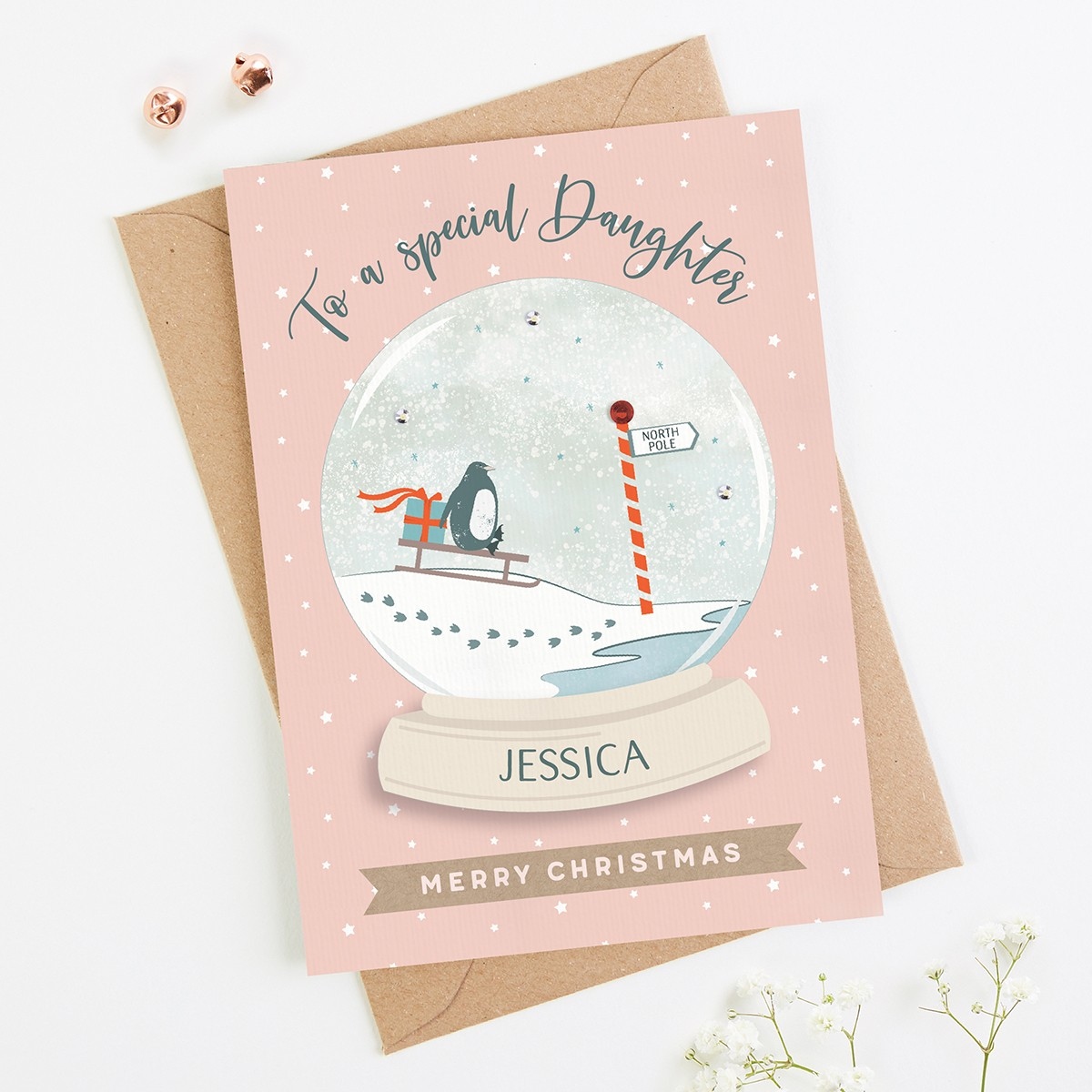 Daughter Christmas Card Personalised - norma&dorothy