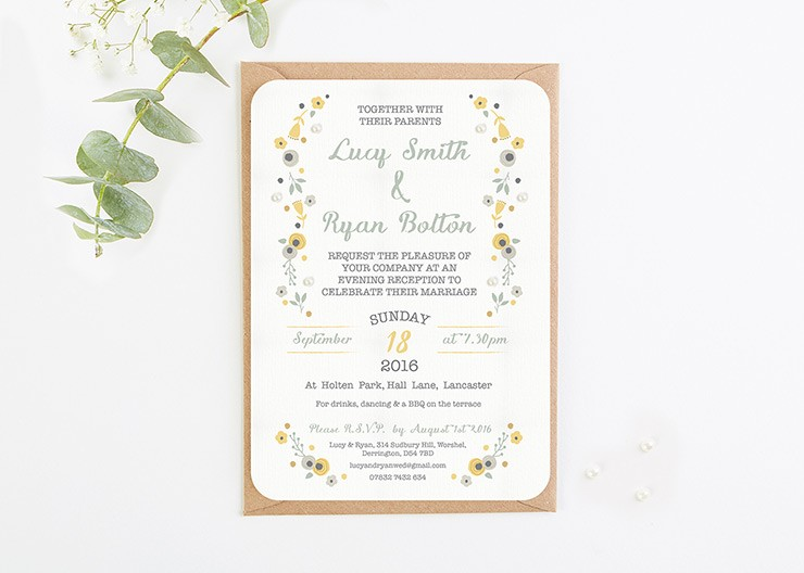 Evening Wedding Reception Invitations: Evening Wedding Invitations