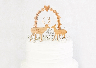 Christmas Wedding Cake Toppers.Wedding Cake Toppers Personalised And Rustic Designs